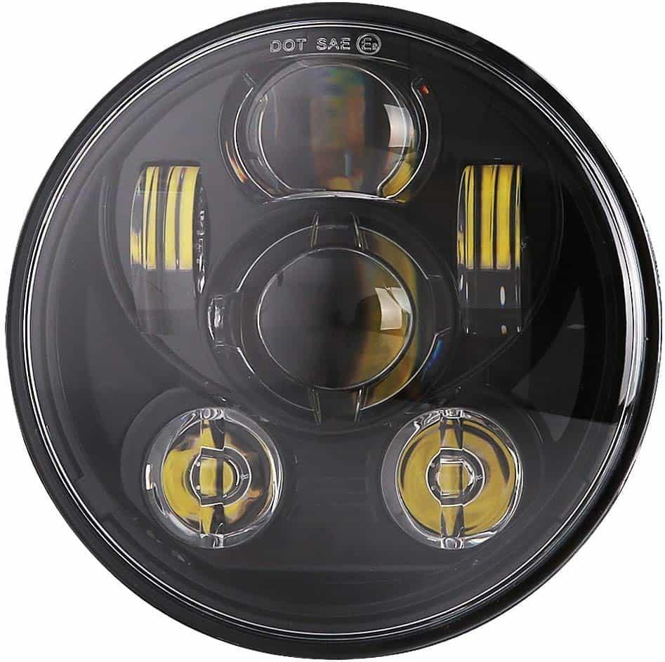 BICYACO_5_3_4_5.7_Inch_LED_Headlight_Black_for_Harley_Davidson