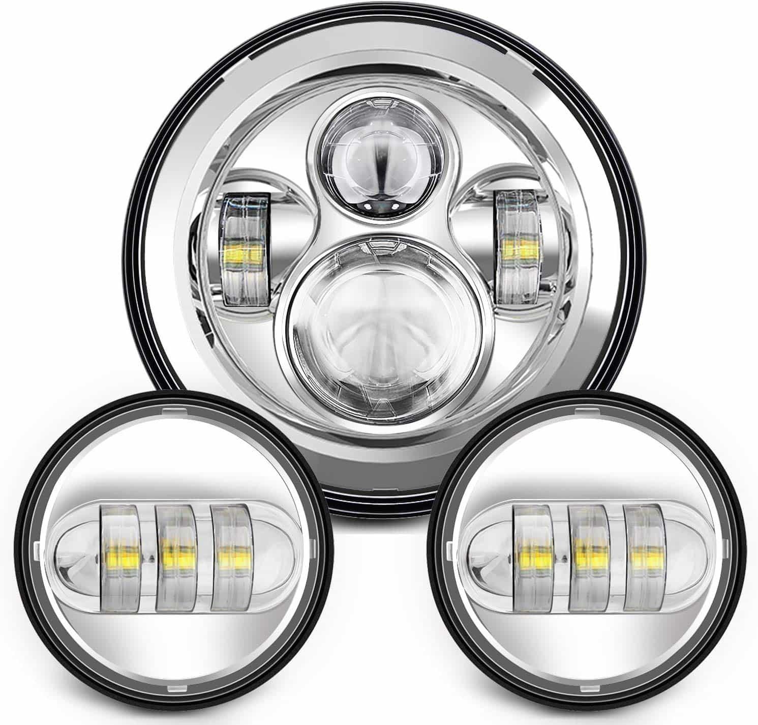 Sunpie_7_Inch_Chrome_Harley_LED_Headlight