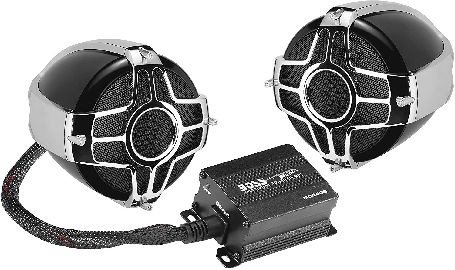 BOSS MC440B Motorcycle Weatherproof Speaker System