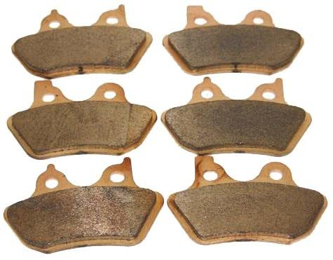 Foreverun Motor Front and Rear Sintered Brake Pads for Harley Davidson Touring