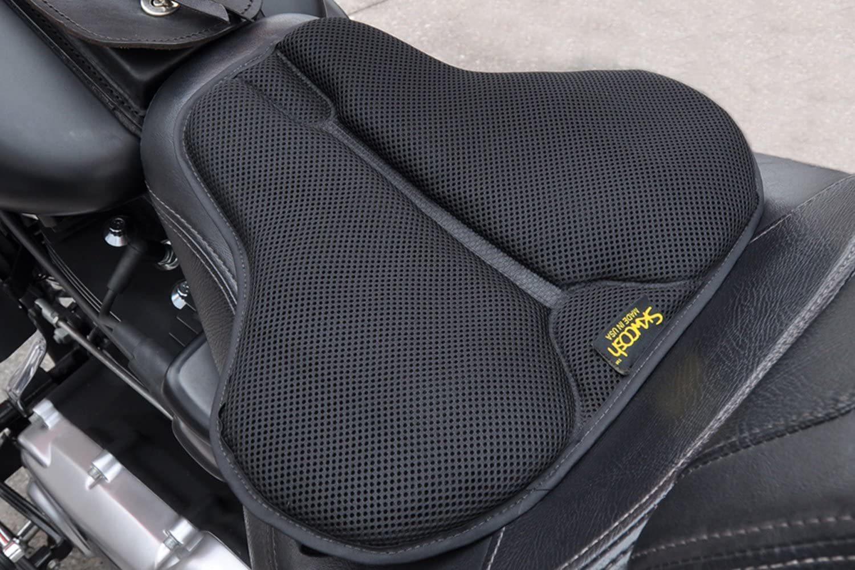 SKWOOSH Classic Saddle Motorcycle Gel Seat Cushion for Harley