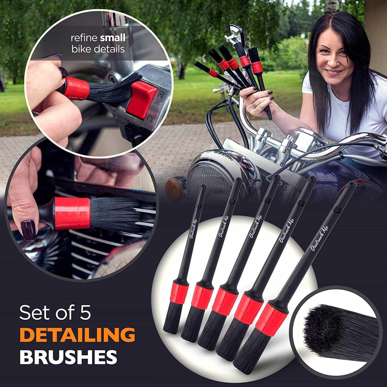 Onetrack Me Motorcycle Detailing Brush Kit
