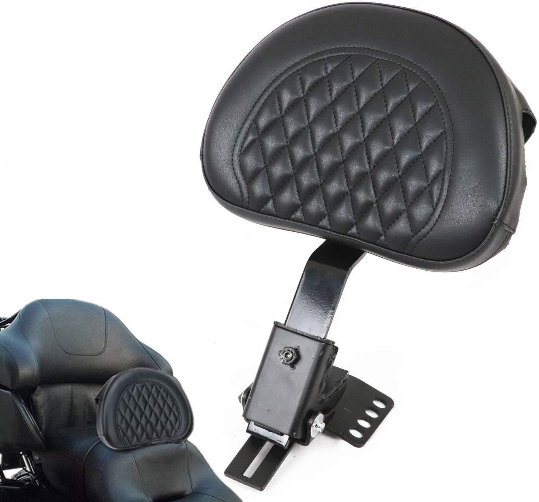 AUFER-Black-Adjustable-Plug-in-Driver-Rider-Backrest-for-Touring-Models