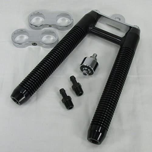 BLACK-Finned-Billet-Oil-V-Cooler-for-MOST-Harley-Models-WITH-DOWNTUBE-MOUNTS