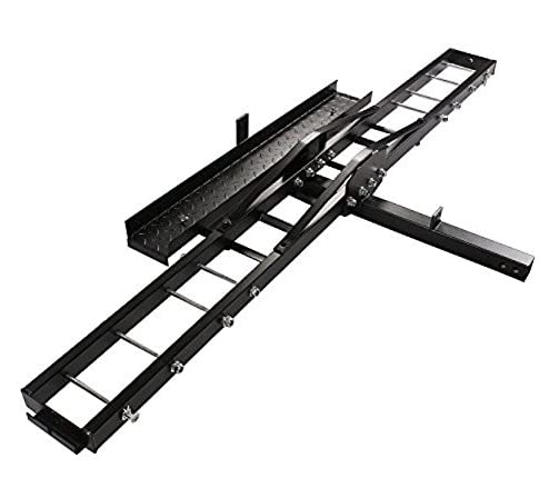 Pound Heavy Duty Motorcycle Dirt Bike Scooter Carrier Hitch Rack Hauler Trailer with Loading Ramp and Anti